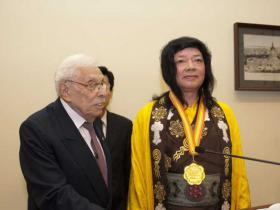 佛教最高领袖第三世多杰羌佛获世界和平奖最高荣誉奖